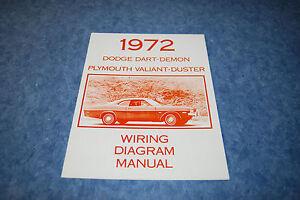 1972 Dodge Dart Wiring Diagram Manual Reproduction Ebay