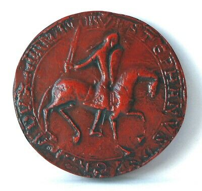King Stephen Obverse Great Wax Seal Red Medieval Reproduction Collectable Gift
