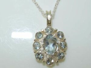 Solid-Sterling-Silver-Aquamarine-Pendant-Necklace
