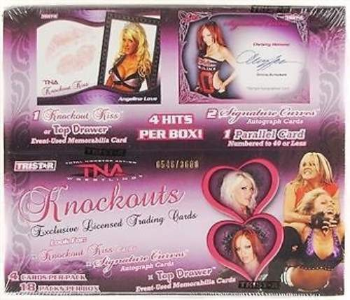 2009 TriStar TNA Knockouts Wrestling Factory Sealed Hobby Box 2 Autos Per Box
