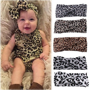 Baby-Girls-Leopard-Print-Floral-Bow-Knot-Headband-Elastic-Stretch-Hair-Band-2016