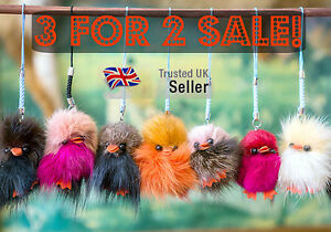 3-FOR-2-Fur-Fluffy-Costume-Charm-Handbag-Mobile-Phone-Pendant-Ball-Keyring