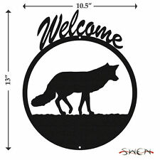 SWEN Products DRAFT HORSE Black Metal Welcome Sign