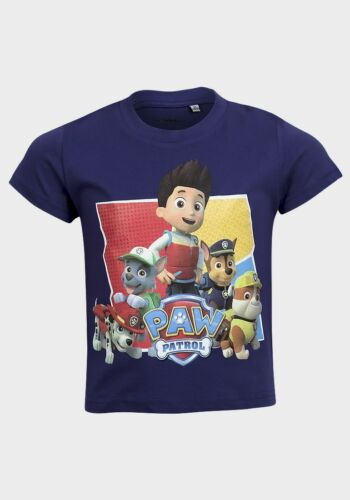 Children/'s Boy/'s Paw Patrol T-shirt//Top 2-8 ANNI-Scelta di Colori 2