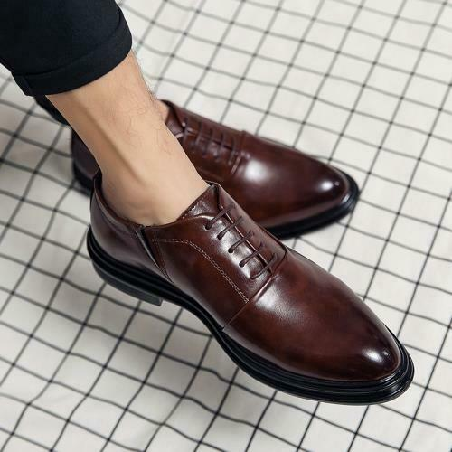 Details about  /Mens Dress Formal Business Leisure Shoes Pointy Toe Work Office Wedding Party L
