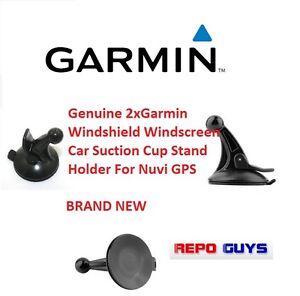 2 x Genuine Garmin Windshield Windscreen Car Suction Cup Holder For Nuvi GPS