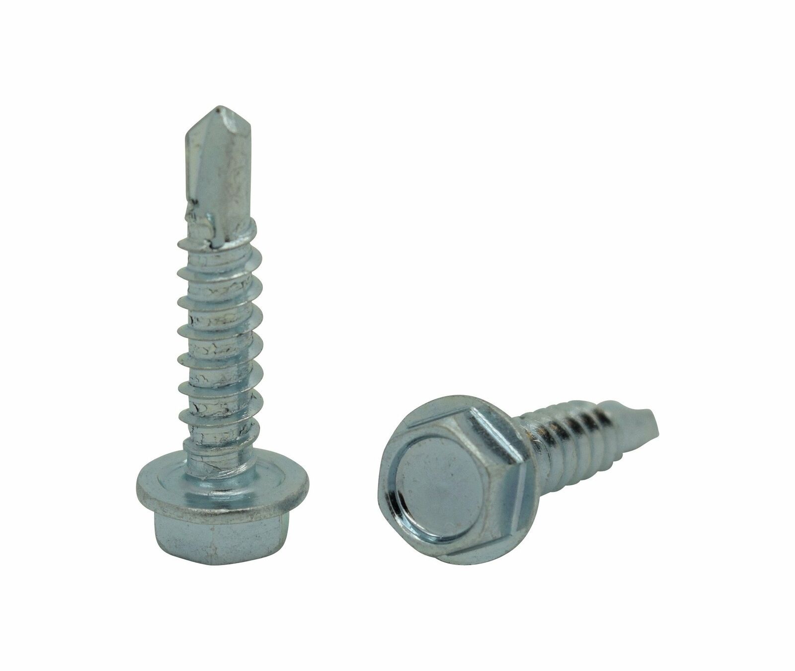 Qty 100 Steel Hex Washer Head Self Driller TEK Screw #12 x 3//4/""