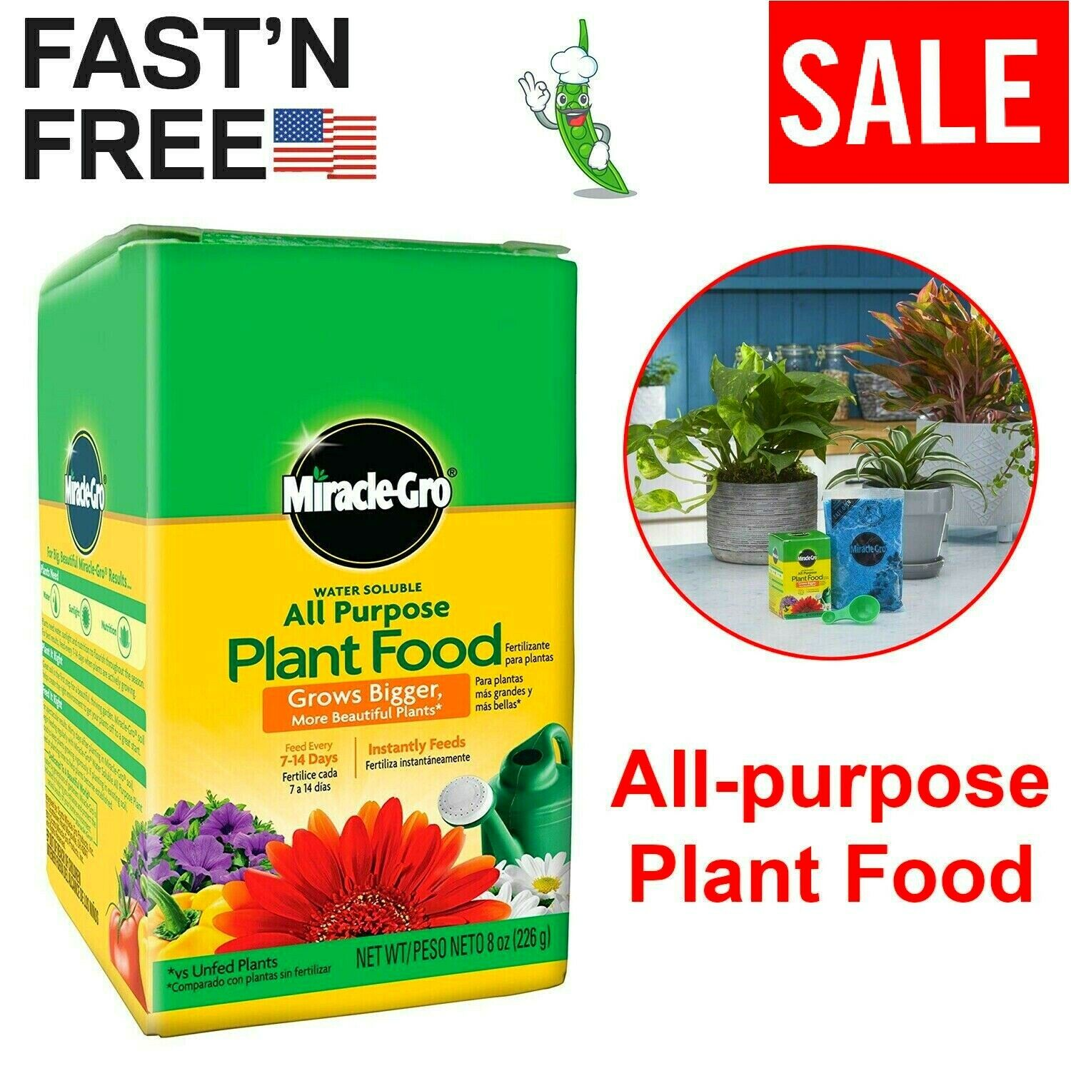 Miracle Gro Succulent And Cacti Plant Flower Food Fertilizer 8 Fl