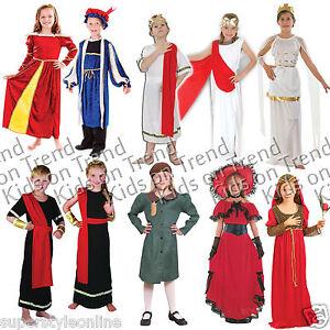 KIDS-Fancy-Dress-GREEK-ROMAN-EVACUEE-GODDESS-TUDOR-School-Historical-Days-4-11-Y