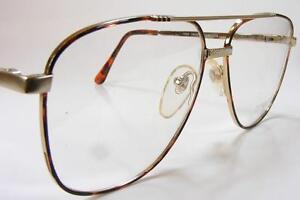 NOS 90s 18K Gold Tortoise Aviator Pilot Vintage Eyeglass ...