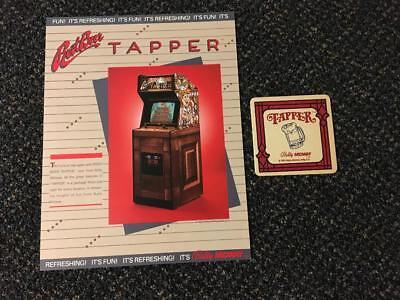 1984 BALLY//MIDWAY ROOTBEER TAPPER FLYER NOS W//BONUS PROMO COASTER