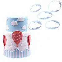 New 5Pcs 3D Cloud Cake Cookie Cutter Mold Fondant Mold Decorating Sugarcraft