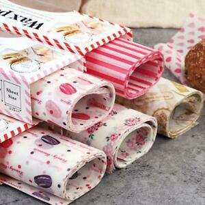 50pc-Wax-Paper-Food-Grade-Grease-Paper-Food-Wrappers-Wrapping-Paper-Bread-50x-AU