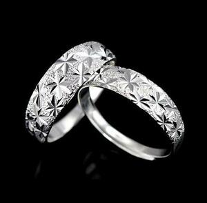 UK-925-SILVER-PLT-ADJUSTABLE-OPEN-DIAMOND-CUT-PATTERNED-BAND-RING-THUMB-LADIES