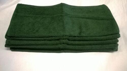 6 Pack 420 gsm coton riche serviettes luxe plaine Evolution Knit vert bouteille
