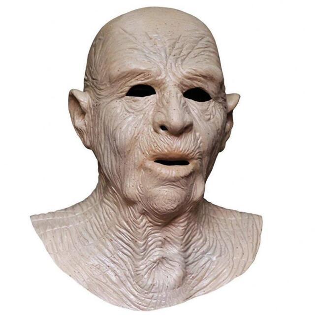 Realistic Adult Wrinkled Male Old Man Mask Halloween Cosplay Prop Fullhead Latex