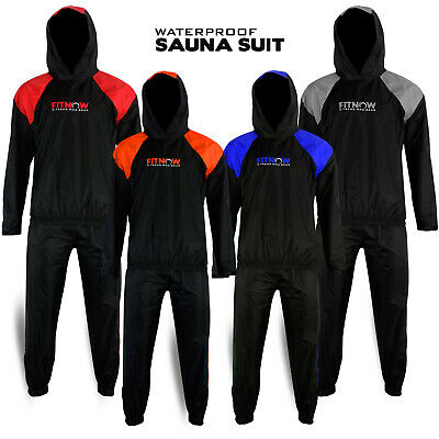 Heavy Duty Sweat Suit Sauna Exercise Gym Suit Fitness Weight Loss With Hood GroßE Vielfalt