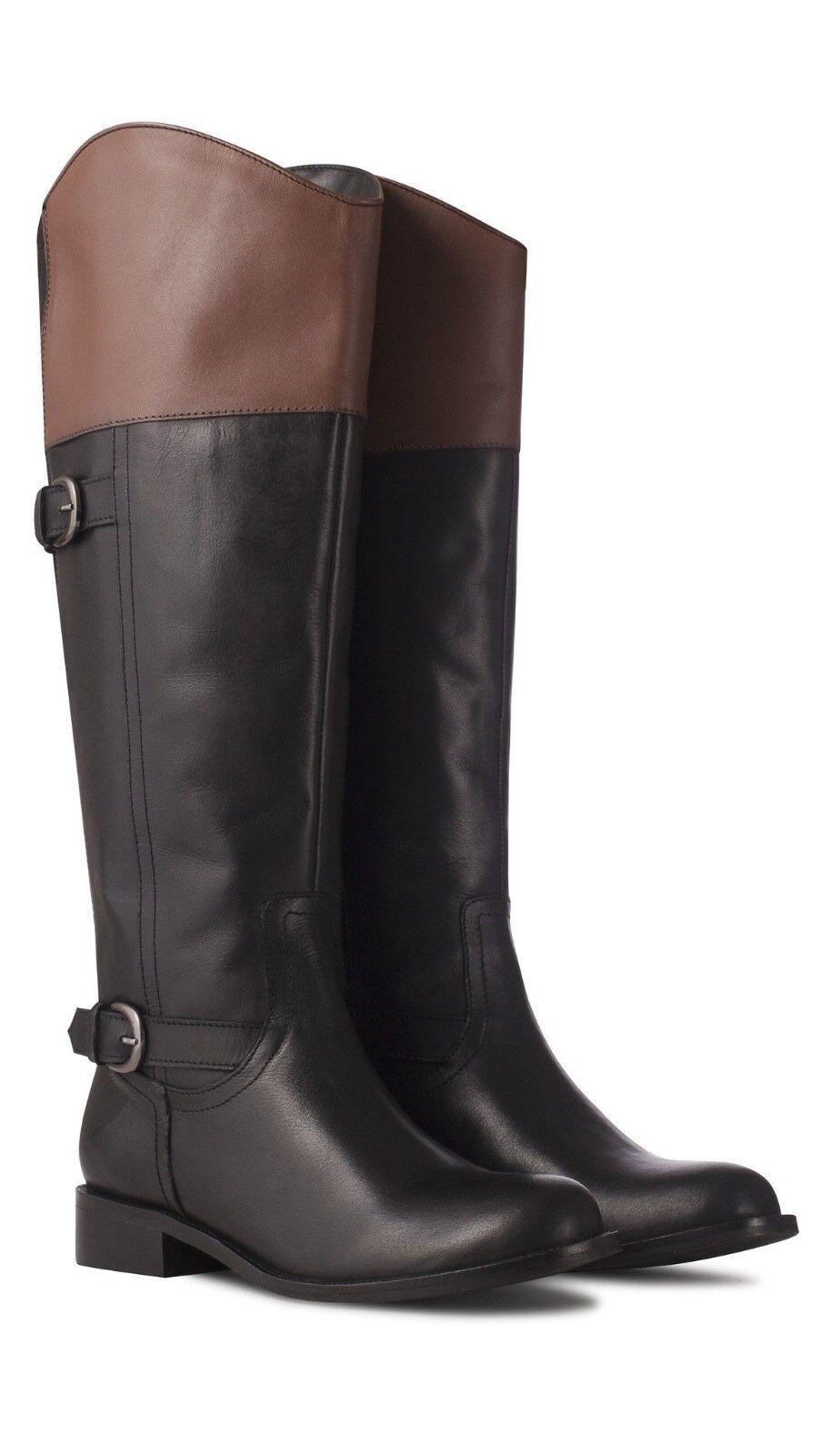 Redfoot Lexy Ladies Cuero Bronceado/Negro Botas de cremallera estilo de conducción /36 Euro