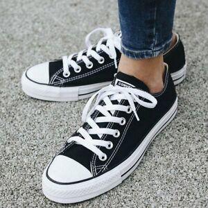 Converse-All-Star-m9166-Chuck-Taylor-Ox-cortos-zapatillas-Black-36-41-regalo