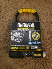"OnGuard Bulldog 8010C Combination U-lock Combo Bike Urban 9/"" x 4.5/"" /& Bracket"
