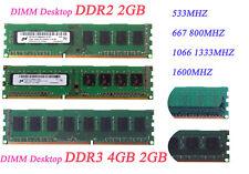 LOT Hynix 8GB 4GB 2GB 2RX8 DDR3//DDR2 12800U//10600U Desktop Memory RAM 240PIN #t5
