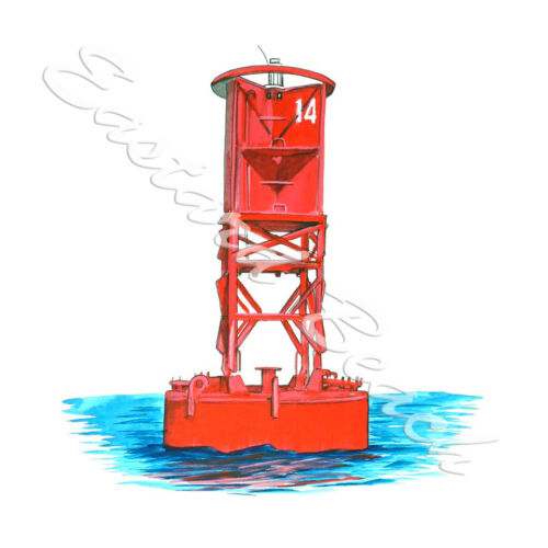 Channel Marker Buoy Boat Boating Home Office Room Camp Decor Decal Wall Art Gift