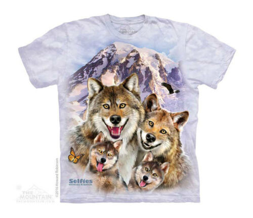 New WOLF SELFIE YOUTH CHILD  T SHIRT