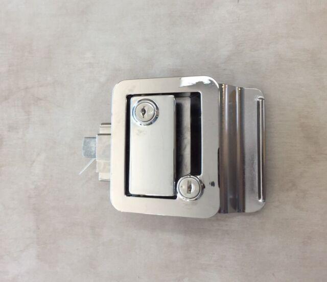 Flush Mount  RV / Travel Trailer / Motorhome / Camper Lock (Chrome)