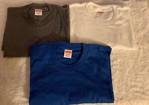 Supreme Blank Tee Blue Size Medium Short Sleeve