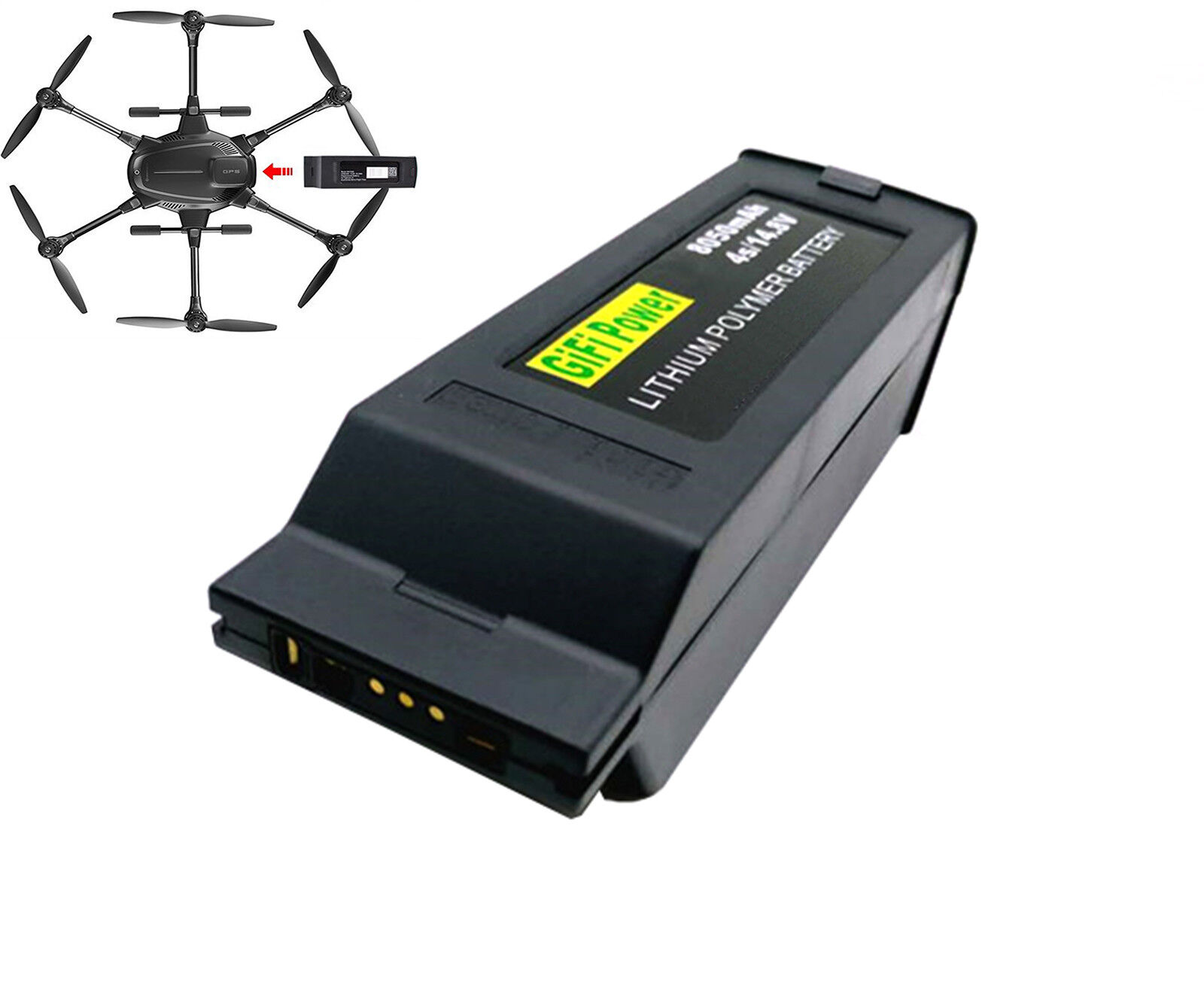 Max 8050mah 14.8v ersatz lipo batterie 4s1p fr yuneec taifun h drohne