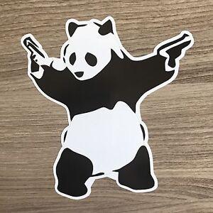 Banksy-Panda-5-034-Tall-Vinyle-Autocollant-Bogo