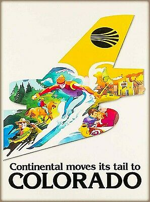 Jamaica Colombia Vintage Airline Travel Art Poster Print