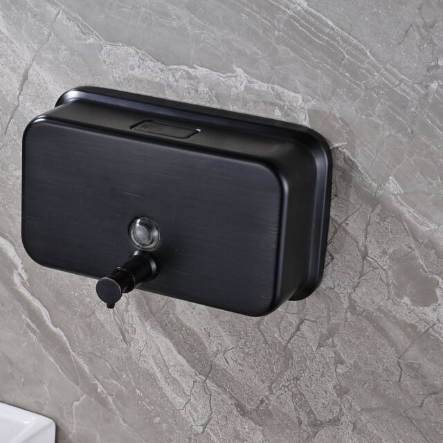 Wall Mounted Oil Rubbed Bronze Soap Dispenser Liquid Shampoo Holder