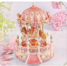 LED PINK house Carousel Music Box MERRY-GO-ROUND Classic Music box  (29 SONG)