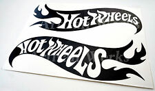 Pair of Hot Wheels v2 Vinyl Decal Sticker Car Vehicle Window Wall Graphic Racing