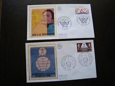 FRANCE - 2 enveloppes 1er jour 1978 (droits de l homme/readaptatio (cy78) french