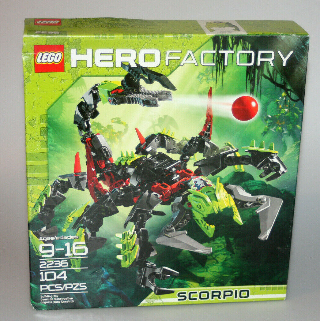 Lego Hero Factory Scorpio (2236) Retirot 2011 NEW Box Shows Wear