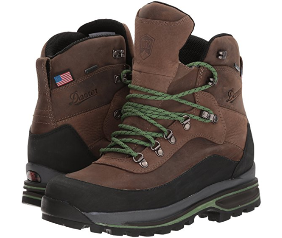 New in Box Danner Mens Crag Rat USA 6  Hiking Boots Brown Green Size 7.5