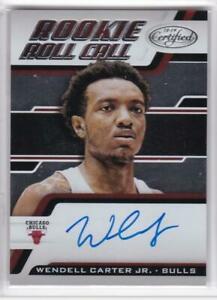 2018-19-Panini-Certified-Wendell-Carter-Jr-Rookie-Roll-Call-Auto-RC-Bulls-Auto