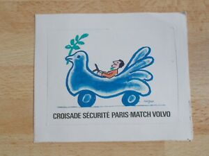 Autocollant-sticker-Croisade-securite-Paris-Match-Volvo-illustration-Savignac