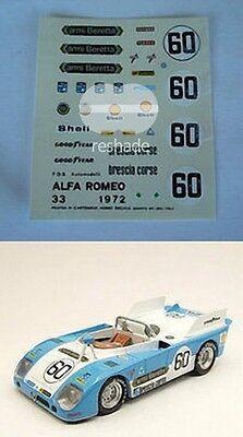 DECALS KIT 1//43 ALFA ROMEO 155 TS D2 Italiano Turismo 1993 Selen Campo
