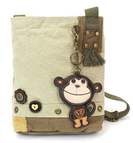 Chala Purse Handbag Sand Canvas Crossbody /& Key Chain Tote Bag Monkey