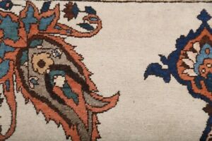 Excellent-Floral-IVORY-Bakhtiari-Vintage-Area-Rug-Hand-Knotted-Bedroom-Wool-5x7