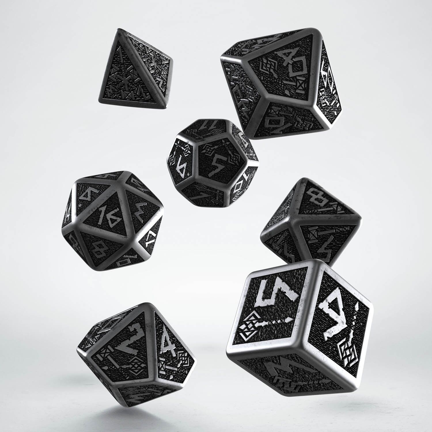 Metal Dwarven Dice Set by Q-workshop