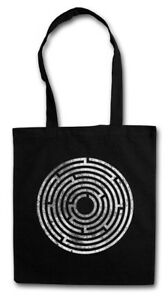 CIRCLE MAZE STOFFTASCHE Spiral Labyrinth Mystic Hypnose Hypno Spirale