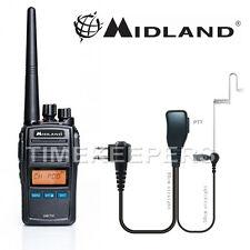 Midland Arctic Black VHF Handheld Marine LCD Radio Kit for Boat Vessel Yacht