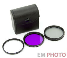 UV FLD CPL 49 mm Filter Set Zirkular Polfilter Fluoreszenz mit Etui Z-0527