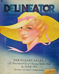 Delineator Vtg Aug 1934 Womens Magazine Fall Fashion Golden Legend Isabella Holt