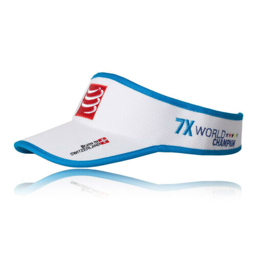 Compressport Unisex Visor Cap White Sports Running Triathlon Breathable