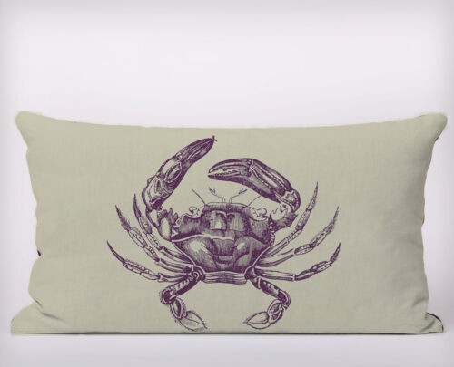 Seaside Crab Long Cushion Covers Pillow Cases Home Decor or Inner